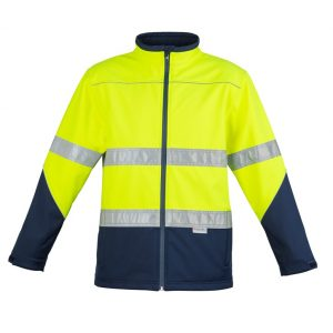 Syzmik ZJ353 Unisex Hi Vis Taped Soft Shell Jacket