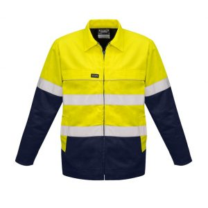 Syzmik ZJ590 Mens Hi Vis Taped Cotton Drill Jacket