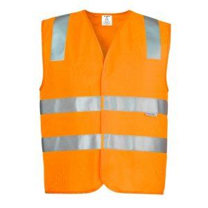 Syzmik ZV999 Unisex Hi Vis Taped Basic Vest