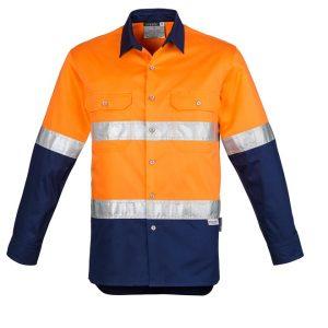 Syzmik ZW123 Mens Hi Vis Spliced Industrial Shirt -Hoop Taped