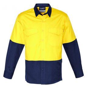 Syzmik ZW128 Mens Rugged Cooling Hi Vis Spliced L/S Shirt