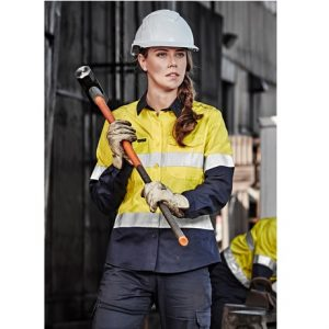 Syzmik ZW720 Ladies Rugged Cooling Taped Hi Vis Spliced Shirt
