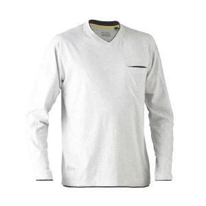 Bisley BK6932 Flex & Move Cotton L/Sleeve Henley Tee