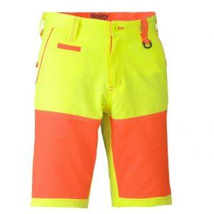 Bisley BSH1411 Double Hi-Vis Shorts