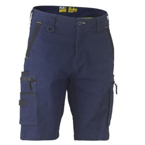 Bisley BSHC1330 Flex & Move™ Stretch Utility Zip Cargo Shorts