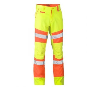 Bisley BP6411T Taped Biomotion Double Hi-Vis Pants