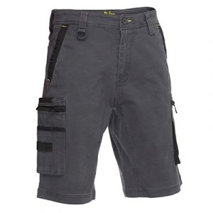 Bisley BSHC1330 Flex & Move™ Stretch Utility Zip Cargo Shorts
