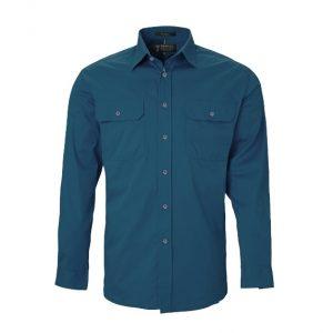 Pilbara RM500BT Original Mens Open Front Long S/Shirt