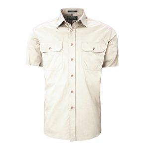 Pilbara RM500BTS Original Mens Open Front Short Sleeve Shirt