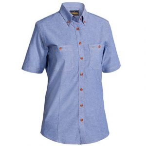 Bisley B71407L Womens Chambray S/Sleeve Shirt
