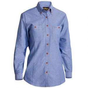 Bisley B76407L Womens Chambray L/Sleeve Shirt