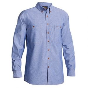 Bisley B76407 Mens Chambray L/Sleeve Shirt