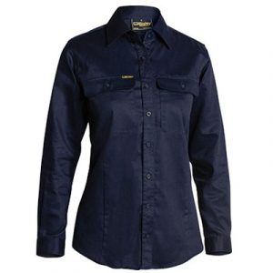 Bisley BL6339 Womens L/Sleeve Drill Shirt