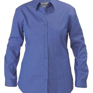 Bisley BL6646 Womens Cross Dyed L/Sleeve Shirt