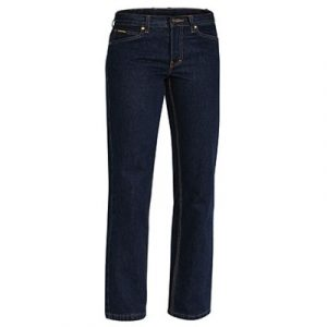 Bisley BPL6053 Ladies Industrial Boot Leg Work Denim Jeans