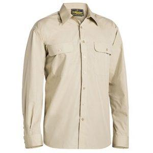 Bisley BS6526 Mens Permanent Press L/Sleeve Shirt