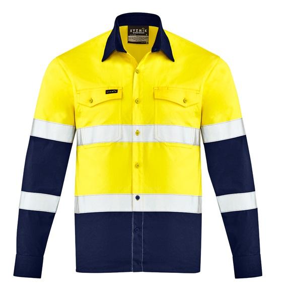 Coalface Workwear ZW520_YellowNavy_F
