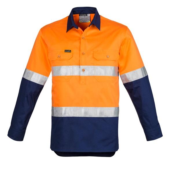 Coalface Workwear ZW550_OrangeNavy_F
