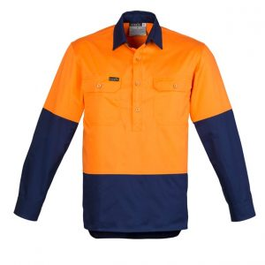 Syzmik ZW560 Mens Hi Vis Closed Front Shirt