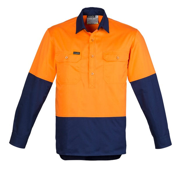 Coalface Workwear ZW560_OrangeNavy_F