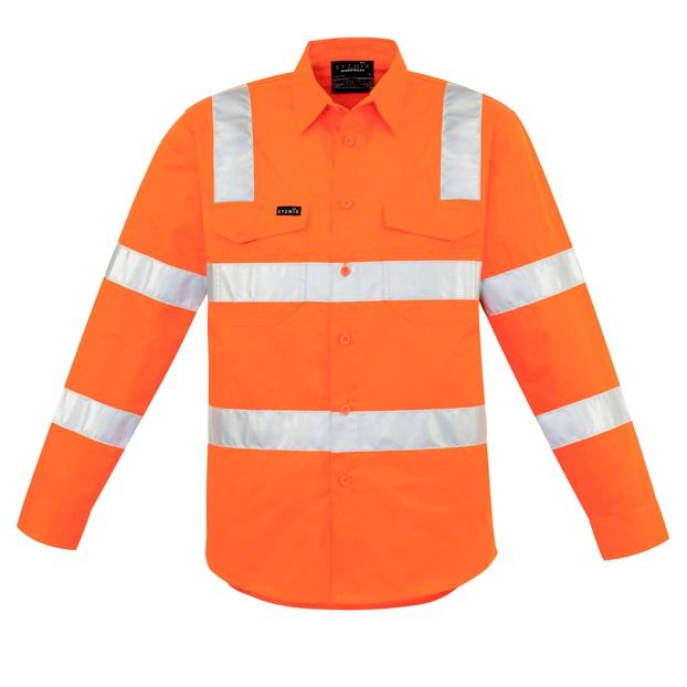 Coalface Workwear ZW680_VicRailOrange_F