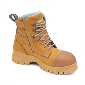 BLUNDSTONE 892 Ladies Lace with Zip & Scuff  Safety Boots Wheat