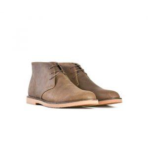 Bata854-44459 Chukka Wax Brown Leather Dress Boot