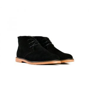 Bata 855-60459 Chukka Black Leather Dress Boot