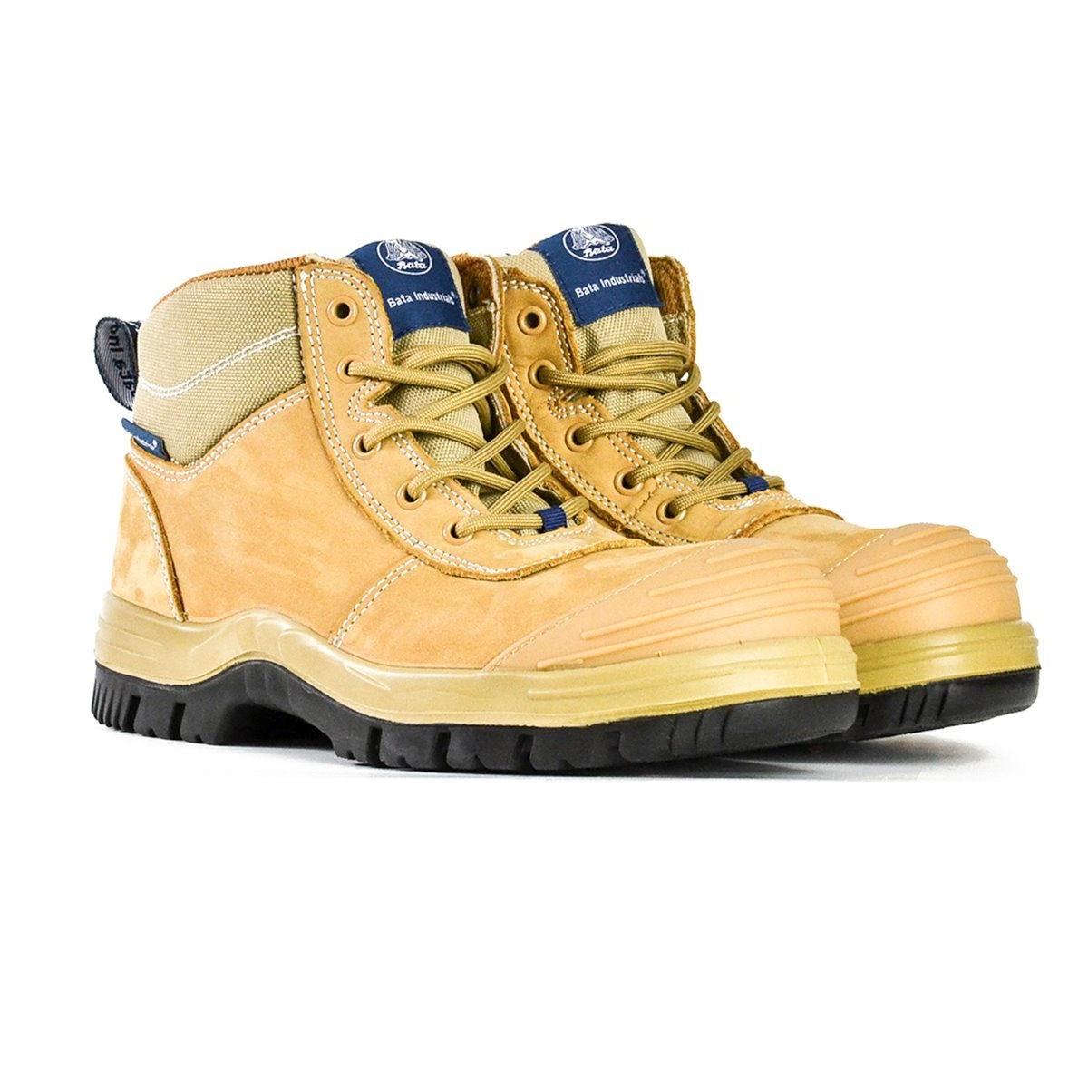 4dc7c24e783 Bata Zippy Wheat Unisex Zip/Lace Low Safety Boot