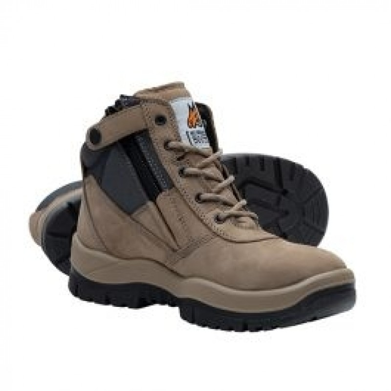 24d452506b7 Mongrel 261060 Zip Side Safety Boot Stone