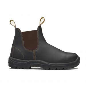 BLUNDSTONE 172 UNISEX ELASTIC SIDED SERIES SAFETY BOOTS - STOUT BROWN