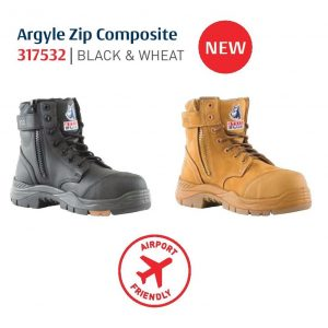 Steel Blue Argyle Zip Composite 317532 Safety Boots