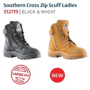 Steel Blue Ladies Southern Cross 512719 Zip Scuff Safety Boots