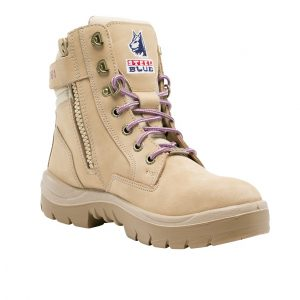 Steel Blue Ladies Southern Cross 592761 Zip Safety Boots Sand