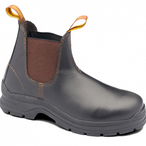 Blundstone 311 Waxy Brown Slip On Safety Boots