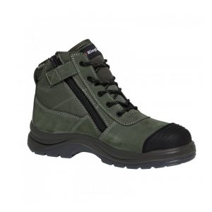 KingGee K27110 Tradie 130mm (5 Inch) Side Zip Khaki Green