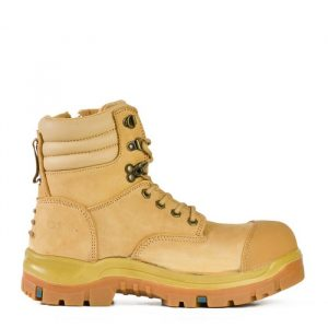 Bata815-88647 Patriot Wheat Zip/Lace Safety Boot