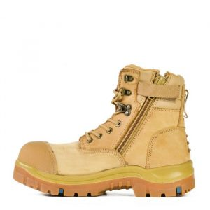 Bata Patriot Wheat Unisex Zip/Lace Safety Boot