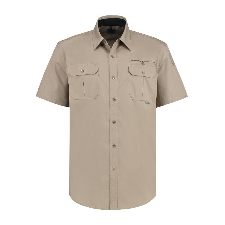 W-MGMN-24767_SITE MASTER Short Sleeve Shirt_Brick_Front-page-001