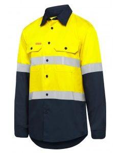 Hard Yakka Y07940 Mens Taped Hi-Vis Long Sleeve Shirt