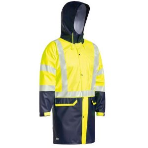 Bisley BJ6935HT Taped Two Tone Hi Vis Stretch PU Rain Coat