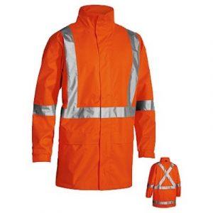 Bisley BJ6968T X Back Taped Hi Vis Rain Shell Jacket