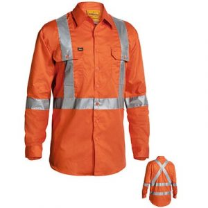 Bisley BS6156T 3M Reflective taped X Back L/Sleeve Shirt
