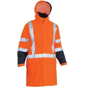 Bisley BJ6955XT Taped Hi Vis Stretch X Back Rain Coat