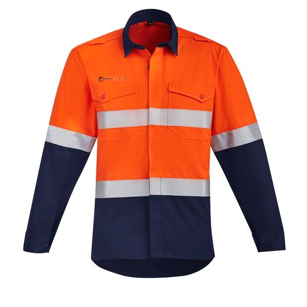 Coalface Workwear Syzmik ZW140_OrangeNavy_F