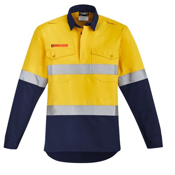 Coalface Workwear Syzmik ZW143_YellowNavy_F