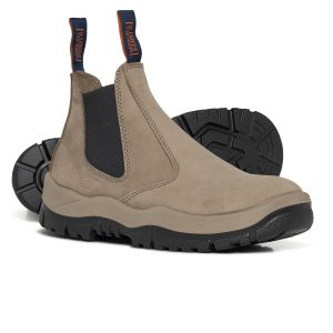 Mongrel 240060 Slip On Safety Boot Stone