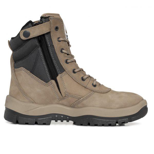 481eae7b858 Mongrel 251060 Zip Side High Leg Safety Boot Stone