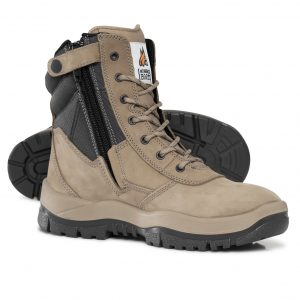 Mongrel 251060 Zip Side High Leg Safety Boot Stone