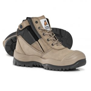 Mongrel 461060 Zip Side Safety Boot With Scuff Stone